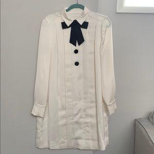 Kate Spade New York white satin dress 10